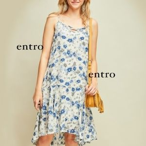 Pretty Floral Print Sundress with Pockets!  Hi Low